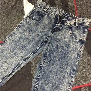 Bleached looking jeans waist size 26